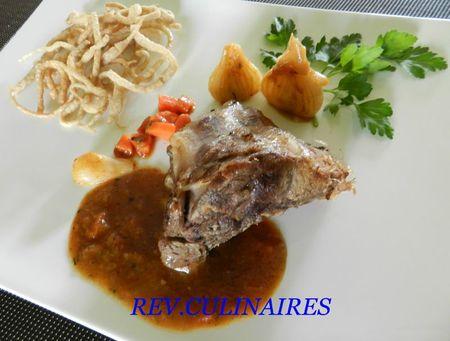 jarret de veau aux agrumes et spatzle