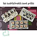 Sushi party et kimpira de courgettes !