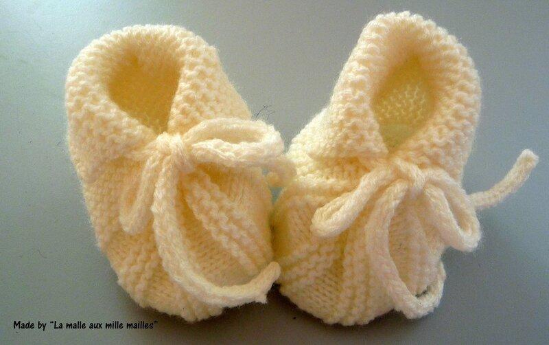 économiser jusqu'à 80% matériaux de haute qualité En liquidation Un joli modèle de chausson pour bébé - La Malle aux Mille ...