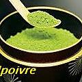 Petites crèmes au thé vert.