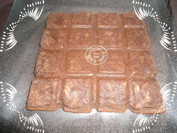 fondant au chocolat et aux amandes effilées