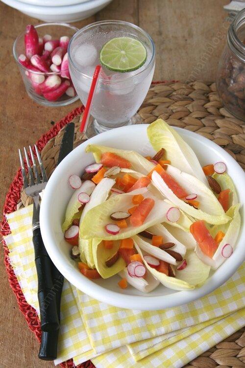 recette de salade d endive et truite fumee 0004 LE MIAM MIAM BLOG