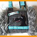 manchon garçon laine turquoise