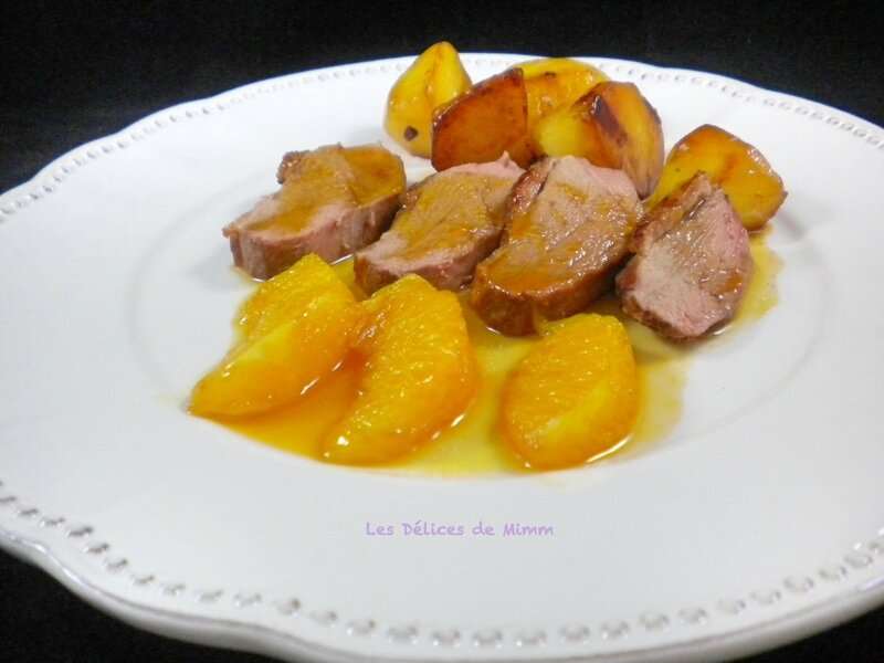 Filet de canard sauce bigarade 3