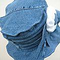 Chapeau jeans et polaire