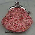 Vendu - mini porte-monnaie rose fleuri