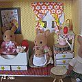 Une chambre de poupée pour les sylvanian, modèle inspiré du marie claire idée n°106