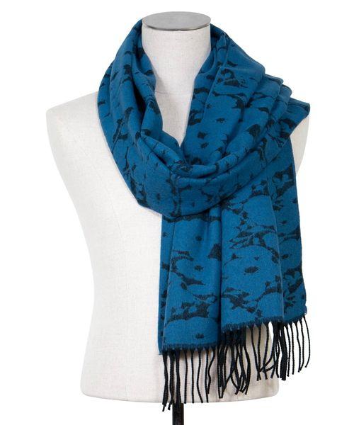 Etole bleu motifs fleuris