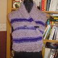 Etole crochet tunisien : violette