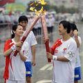 Passage de la flamme olympique à Shantou sous la pluie 4