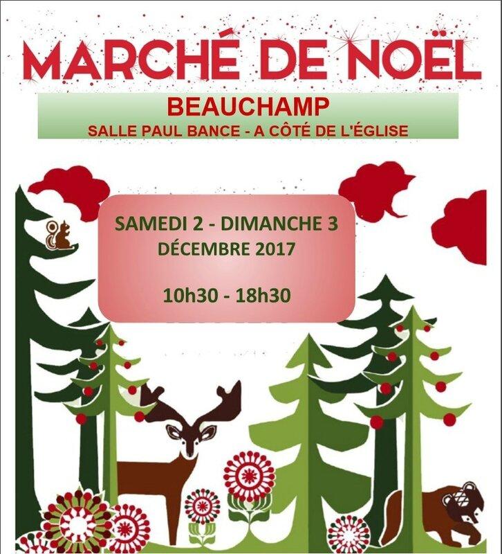affiche marché noël beauchamp 2017