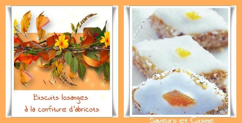 Biscuits losanges à la confiture d'abricots