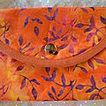 Portefeuilles batik orange