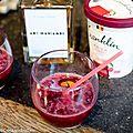 Glaces franklin - cocktail aux cerises, sorbet à la kriek