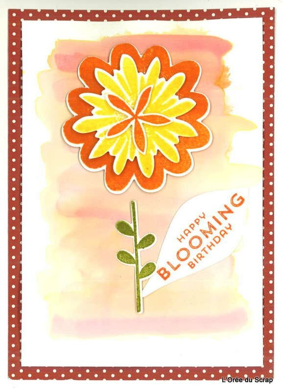 carte scrap flower stampin up