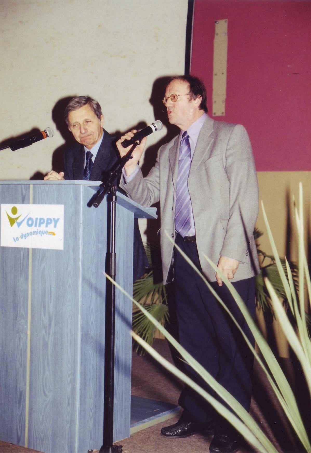 André Kaspi et Pierre Brasme durant le débat