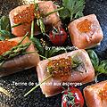 Terrine de saumon aux asperges
