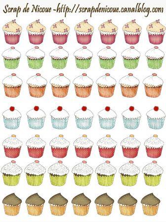 Planche de cupcakes