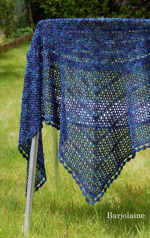 Barjolaine en Heritage Silk Paints Cascades Yarn