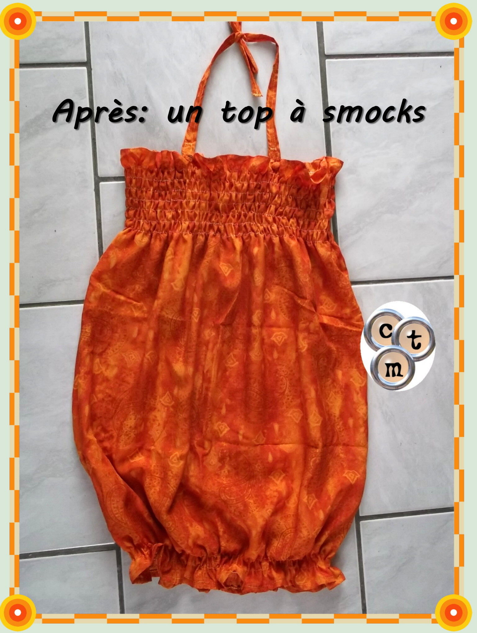 top a smocks issu d'une robe longue