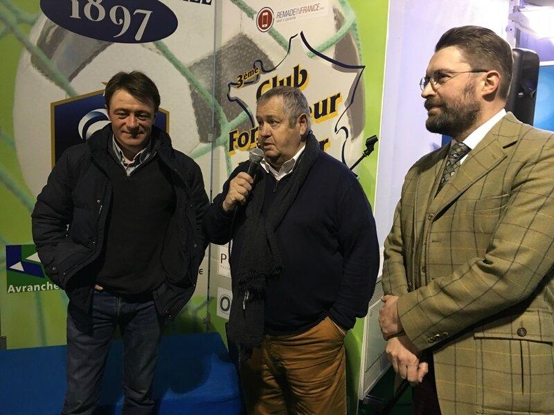 Franck Nivard Gilbert Guérin David Nicolas Avranches réception février 2017