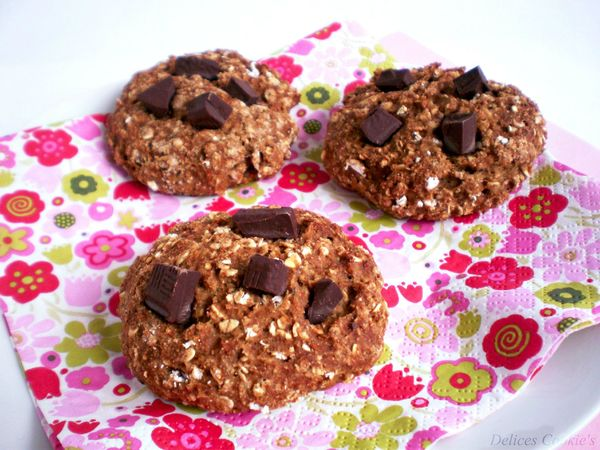 cookies banane marrons flocons 3