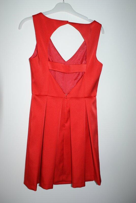robe rouge naf naf dos décolleté