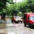 Démonstration de pluies tropicales