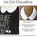 Workshop #1 - le col claudine