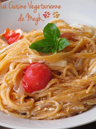 Spaghettis quinoa à la tomate aux saveurs d'Italie