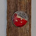 Création raku-mosaïque sur bois flotté