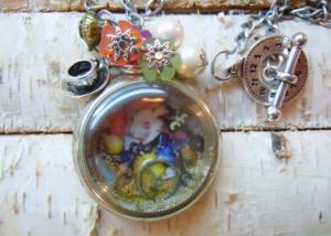Pendule steampunk Alice