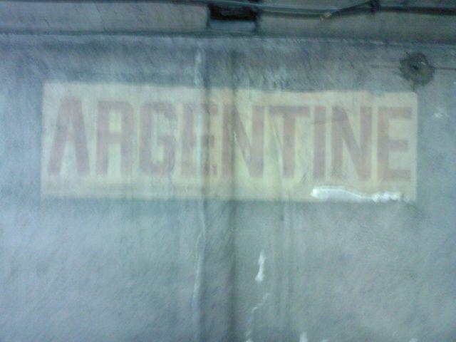 Argentine : vieux cartouche peint