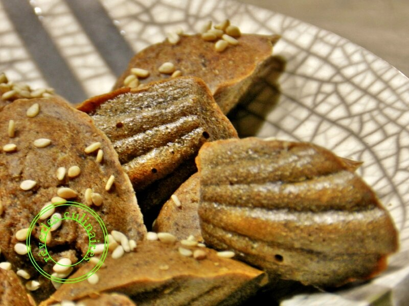madeleines à la crème d'olives noires 1