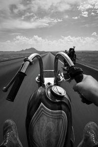 a route en moto