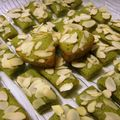 Mini financiers au thé matcha