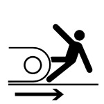 pictograms-aem-0113-machine-run-over-tracked