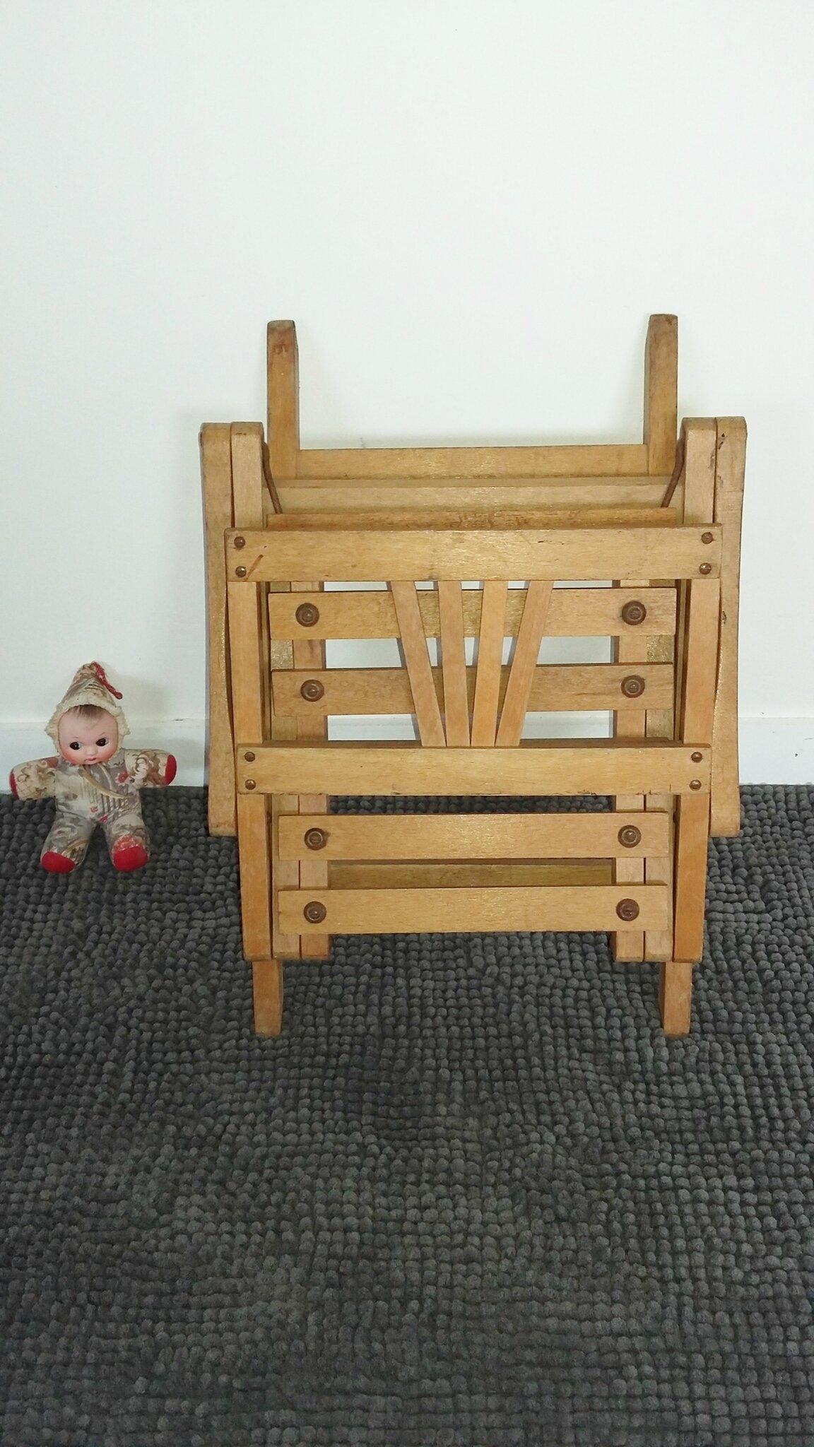 chaise pliante enfant vintage années 50