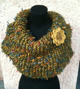 snood moutarde 1