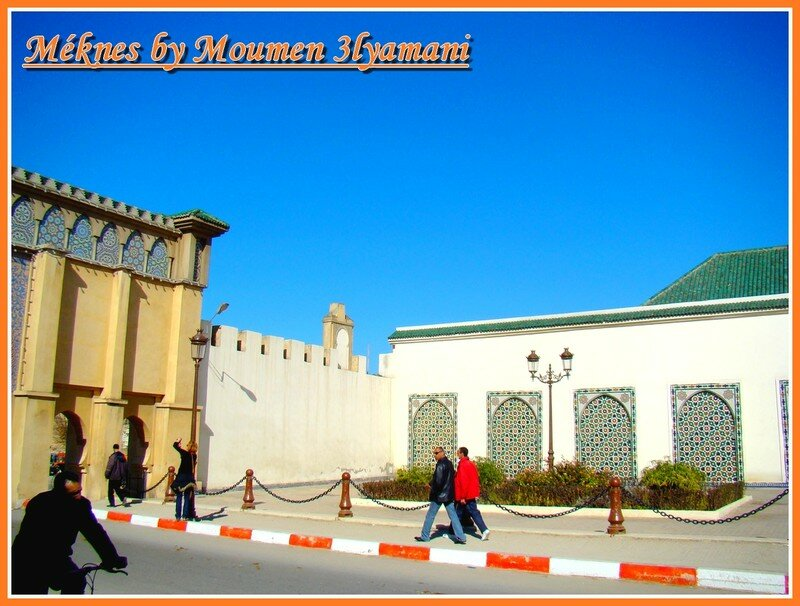 Entrée du Mausolée Moulay Ismail Médina de Méknes