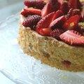 Angel cake aux fraises