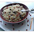 Couscous aux raisins secs et grenade