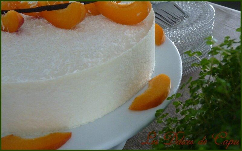 Entremets abricot coco2