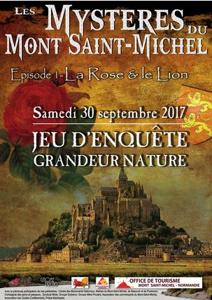 jeu d'enquête grandeur nature « Les Mystères du Mont Saint Michel samedi 20 septembre 2017