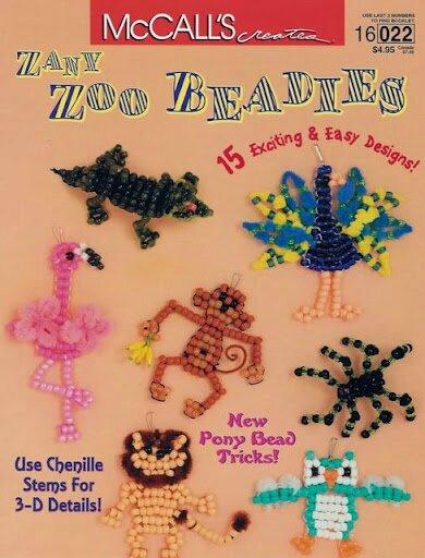Zany zoo beadies