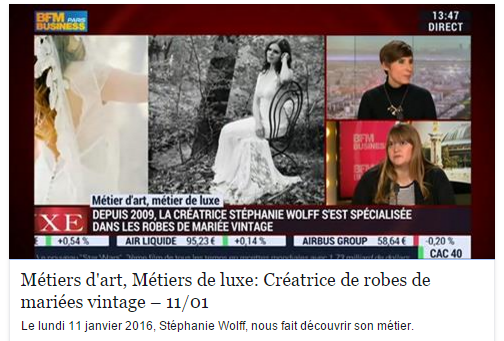 STEPHANIE WOLFF PARIS - INTERVIEW BFM - 11 JANVIER 2016
