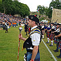 La cornemuse aux highland games :