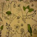 Oiseaux feuillage vert