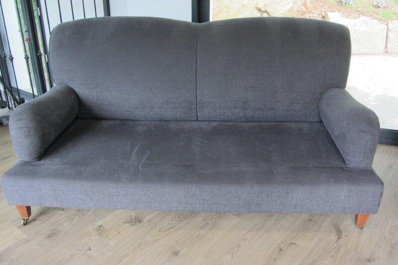 canapé retapissé côté sièges