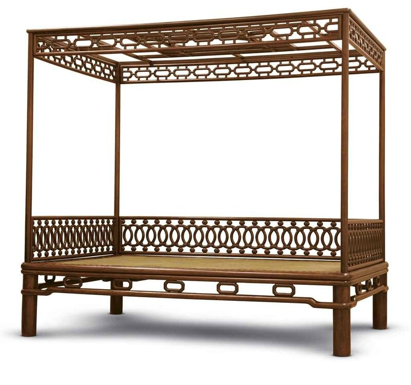 A fine and rarehuanghualifour-poster canopy bed,jiazichuang, Late Ming-early Qing dynasty, 17th century